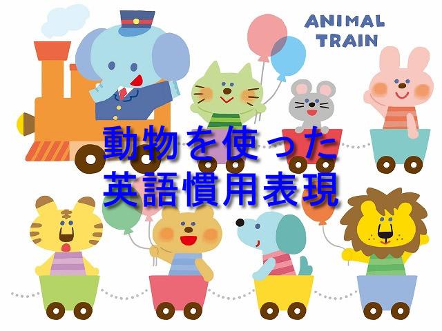 動物を使った英語慣用表現